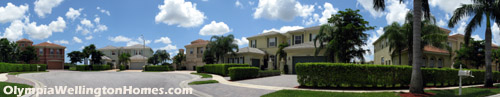 The neighborhood is part of the package. At Olympia in Wellington, FL your neighbors' homes will be of a similar caliber to your own.